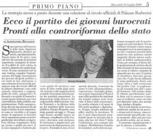ItaliaOggi del 28 Agosto 2010