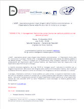 Convegno 23 Novembre 2011