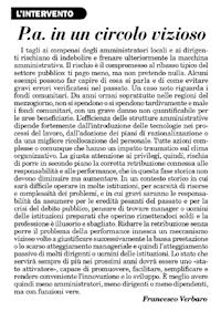 """Estratto """"Italia Oggi"""" del 9 Settembre 2011"""