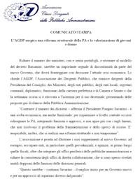 Comunicato del 14 Novembre 2011