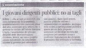 Corriere della Sera del 29 Ottobre 2011