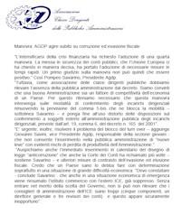 """Comunicato su decreto """"Salva Italia"""""""