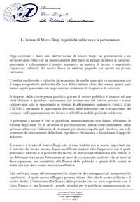 Ricordo per il Prof. Marco Biagi