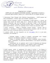 Comunicato del 19 luglio 2012