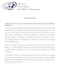 Comunicato del 30 Ottobre 2012