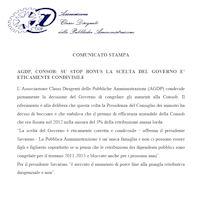 Comunicato dell'8 Novembre 2012