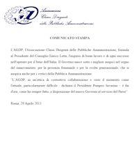 Comunicato del 29 Aprile 2013