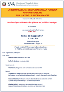 Locandina convegno SNA Roma 25 Maggio